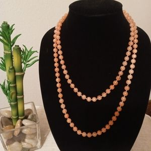"VINTAGE 47"" BEADED NECKLACE"